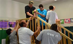 Gates Chili Teachers and Students help build Literacy Loft