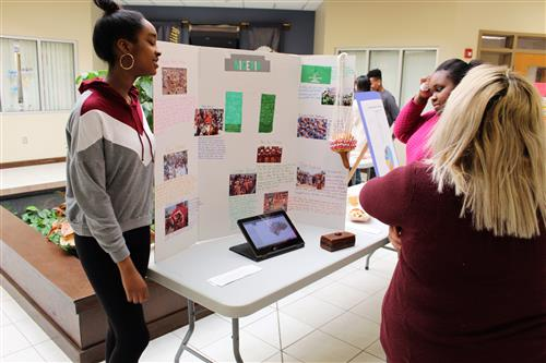students at diversity fair