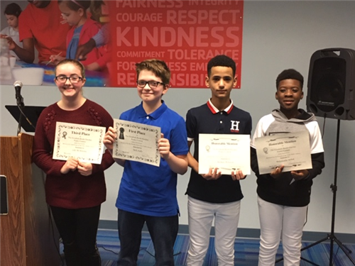 middle school contest winners