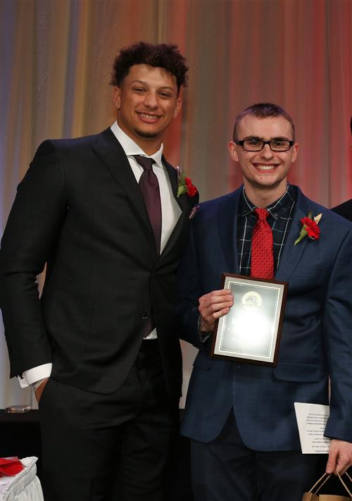Patrick Staley and Patrick Mahomes