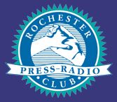 rochester press-radio club logo