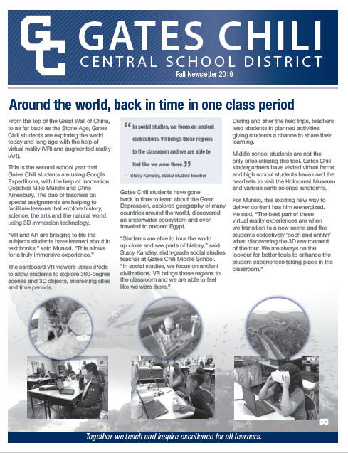 gccsd newsletter cover image